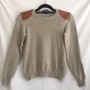 Ralph Lauren collection cashmere sweater leather